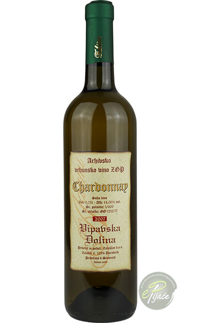 Chardonnay arhivsko vino